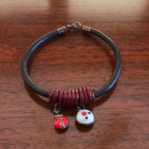 Jewelry - Face and lady bug charm bracelet FROM GREECE